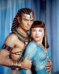 "Yul Brynner and Anne Baxter in ""The Ten Commandments"""