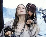"Keira Knightley and Johnny Depp from ""Pirates of the Caribbean 2"